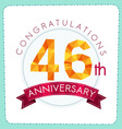colorful polygonal anniversary logo 3 046 vector image vector image