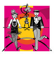 couple dancing tap dance vector image