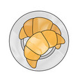 croissant icon image vector image vector image