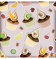 cupcakes fruits and berries vector image vector image