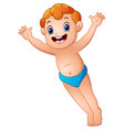 cute little boy hands up vector image