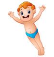 cute little boy hands up vector image vector image
