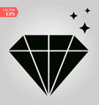 diamond icon flat design best icon vector image