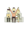 family together on the sofa vector image