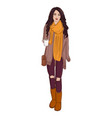 fashion autumn style poster vector image vector image