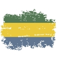 Gabon grunge flag vector image vector image