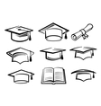 graduating hat vector image vector image
