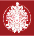 group people praying to god prayer unity vector image vector image