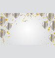 happy birthday confetti and ribbons vector image vector image