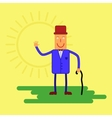 Happy character in a flat vector image