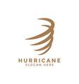 hurricane whirlwind logo icon design template vector image vector image