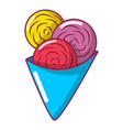 ice cream icon cartoon style vector image vector image