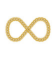 infinity sign gold chain icon vector image