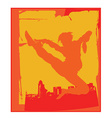 Karate pose vector image vector image