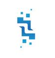 letter z logo design vector image vector image