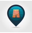 Men Beach Shorts pin map icon Summer Vacation vector image vector image
