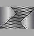metal perforated background with brushed iron vector image vector image
