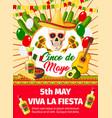 mexican cinco de mayo invitation card vector image vector image