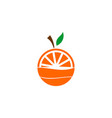 orange juice logo vector image vector image