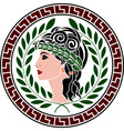 patrician women stencil second variant vector image vector image