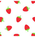 pattern with falling sweet red strawberry vector image