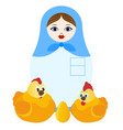 poultry farmer vector image vector image