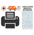 printer icon with 1300 medical business icons vector image