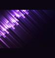 purple speed bar overlap in dark background vector image vector image