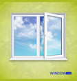 realistic open plastic window vector image