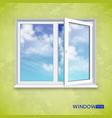 realistic open plastic window vector image