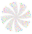 refresh fireworks swirl flower vector image vector image
