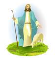 resurrected jesus christ vector image