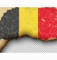 ripped belgium flag country torn paper burning vector image vector image