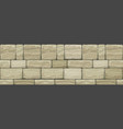 seamless wide texture old stone vector image vector image