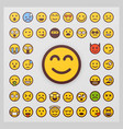 set emoticon isolated on white vector image