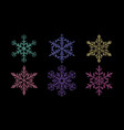 Set shiny snowflakes