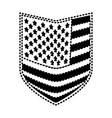 shield of flag united states of america black vector image vector image