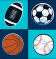 Sports balls children seamless pattern vector image vector image