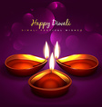 stylish diwali background vector image vector image