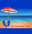 summer lettering its summer time vector image vector image