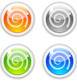 Swirl buttons vector image vector image