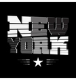 T shirt New York black white gray star vector image vector image