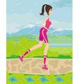 teen girl having fun on roller skates vector image