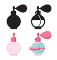 toilet water in perfume bottle flat icons vector image vector image