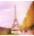 view on Eiffel Tower Paris France Blur background vector image