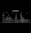 voronezh silhouette skyline russia - voronezh vector image vector image
