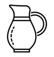 water jug icon outline style vector image vector image