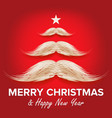 white santa s mustache in form of christmas tree vector image