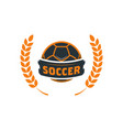 soccer football logo template modern sport ball vector image