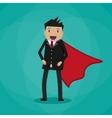 Super Businessman in suit vector image